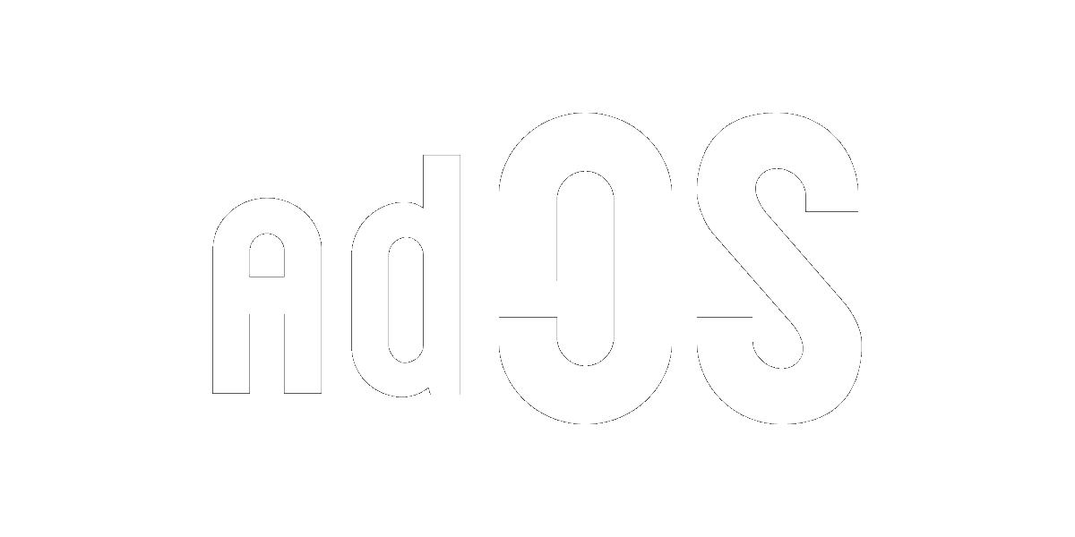 adOS White Logo